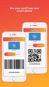 Scan your Reward Card app
